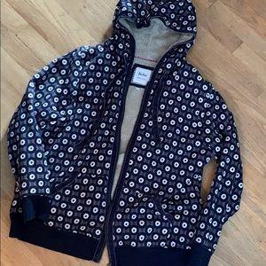Boden 20 / 16 fleece Sherpa zip thru jacket hoodie